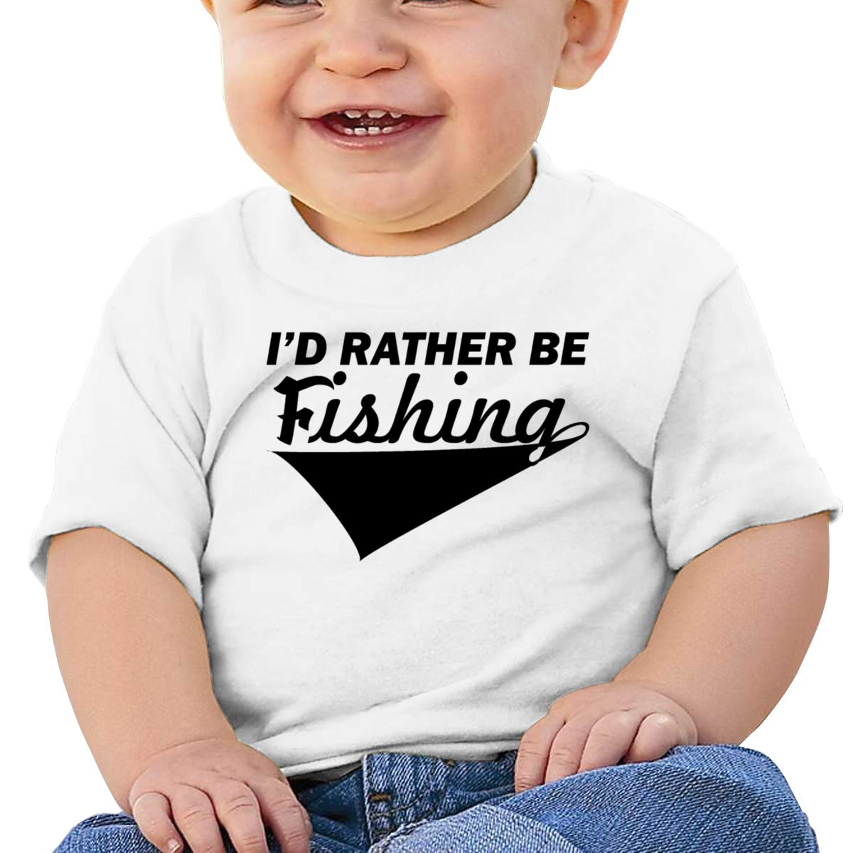Qiop Nee I D Rather Be Fishing 5 Short-Sleeves T-Shirt Baby Boys