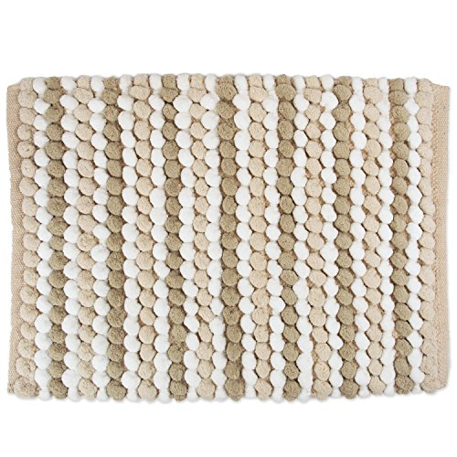 DII Ultra Soft Plush Spa Microfiber Shag Chenille Bath Mat Place in Front of Shower, Vanity, Bath Tub, Sink, and Toilet, 21 x 34