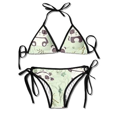 Amazon.com: Pin Cute Panda bañadores Bikinis Tanga Traje de ...