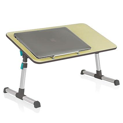 Instago - Soporte plegable para ordenador portátil, para escritorio, cama, mesa portátil con