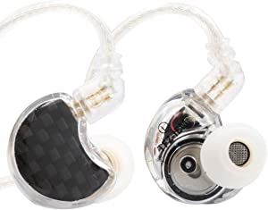 Linsoul TFZ NO.3 Dynamic Driver HiFi in-Ear Earphones with Carbon Fiber Faceplate Shell, 2Pin 0.78mm Detachable Cable (TFZ No.3 Carbon Fiber Faceplate)
