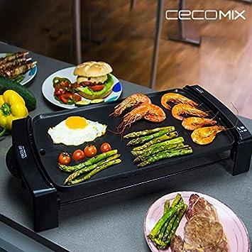 Cecomix Black 3046 Grillplatte 2150w Amazon De Kuche Haushalt