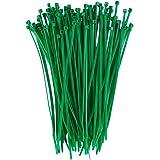 Dxg 100 Pack 4 Inch 2.5 x 100mm Self-locking Zip ties Nylon Cable Ties (Green)