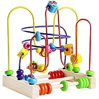 Fajiabao Giocattoli Rotolamento Bead Maze Roller Coaster Giochi Di Legno Prima Infanzia Frutta Matematica Giochi Educativi per Bambini 3 Anni