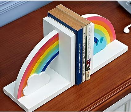 NIKKY HOME Holz Rainbow Buchst/ützen f/ür Schlafzimmer Kinderzimmer /& Kinderzimmer Dekor Packung mit 2