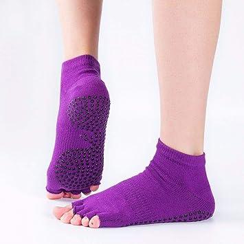 Liuxc Calcetines de yoga Calcetines de Verano, Calcetines de Cinco Dedos Profesionales de Yoga,