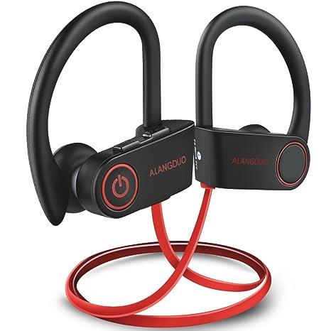 2be71c9b702 Bluetooth Headphones Wireless, Bluetooth 4.1 Sports Bass Bluetooth Earphones  with mic, IPX7 Waterproof Bluetooth