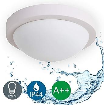 Deckenlampe LED 48W Badlampe IP44 Badezimmerleuchte Deckenleuchte Küche Flur