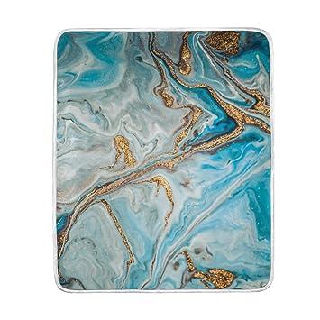vinlin Marmor-Textur Samt Plüsch Überwurf, gemütlich, warm, leicht ...