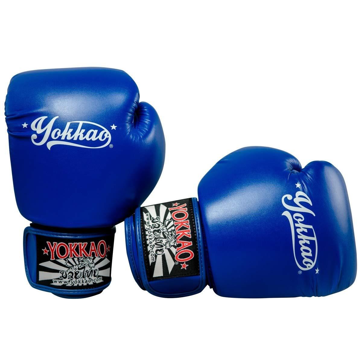 Yokkao ボクシンググローブ ムエタイ ボクシング 総合格闘技 キックボクシング トレーニング ボクシング 装備 武道 12オンス ブルー B07GBFL2VS