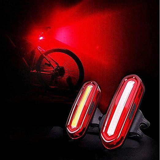 MAlex Cubierta de luz de Bicicleta Luz de Carga USB luz Trasera ...