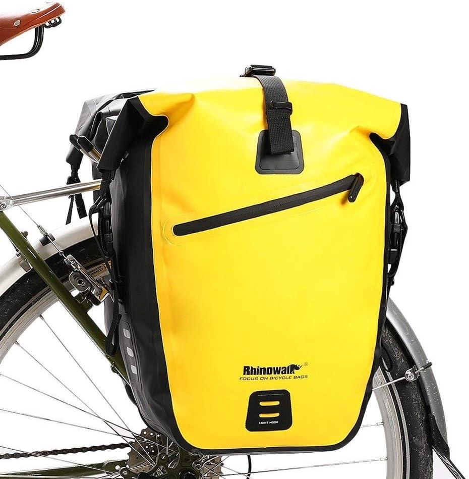 Alforja Trasera Estante 25L-27L impermeable del bolso de la bici del camino de MTB de la bici posterior de la bicicleta de ciclo del bolso del asiento trasero del bolso de hombro