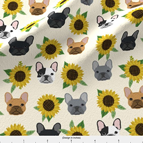french bulldog fleece fabric - 9