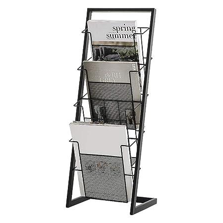 Libreria Verticale In Metallo.Portariviste Piccolo Design A Forma Di L Salvaspazio Semplice
