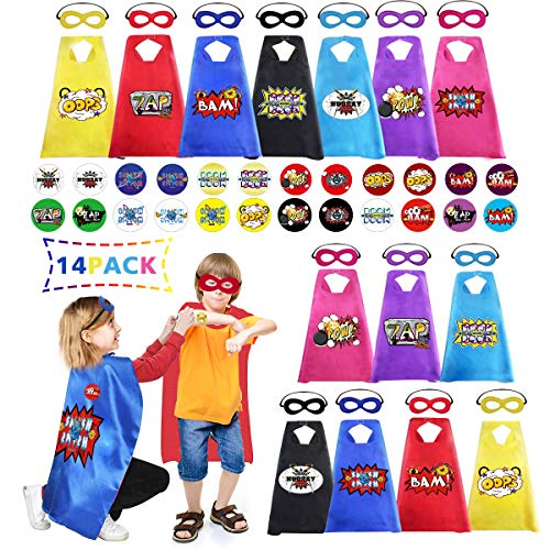 Newoer Superhero Capes and Masks Stickers for