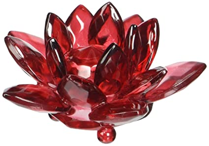 Amazon feng shui 70 mm red water lily lotus flower crystal feng shui 70 mm red water lily lotus flower crystal figure with gift box figurine mightylinksfo