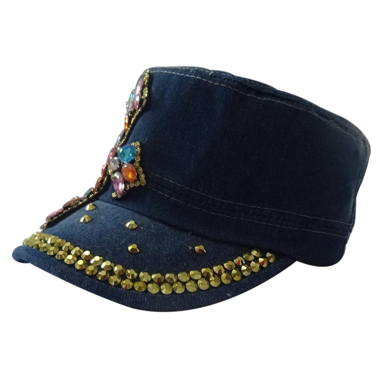 denim da donna sportivo cappello da baseball con gioiello strass regolabile  Blu blue FH119: Amazon.it: Abbigliamento