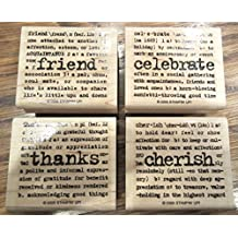 Stampin Up 2005 Lexicon Of Love 4 Stamps Org Pkg Cherish Celebrate Friend