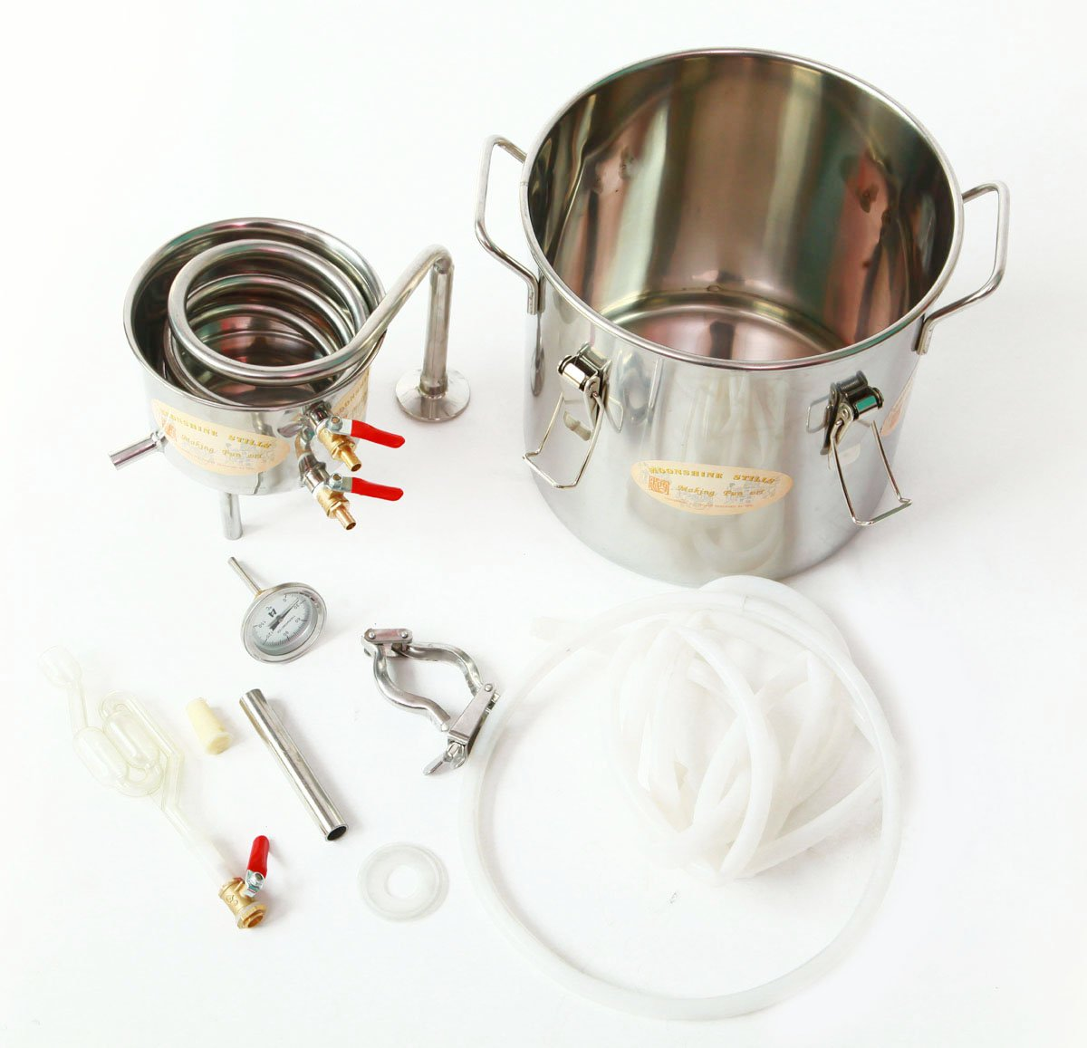 DIY 2 Gal 10 Liters Home Alcohol Whiskey Distiller Moonshine Still Stainless Steel Boiler Wine Making Kit by WMN_TRULYSTEP (Image #9)