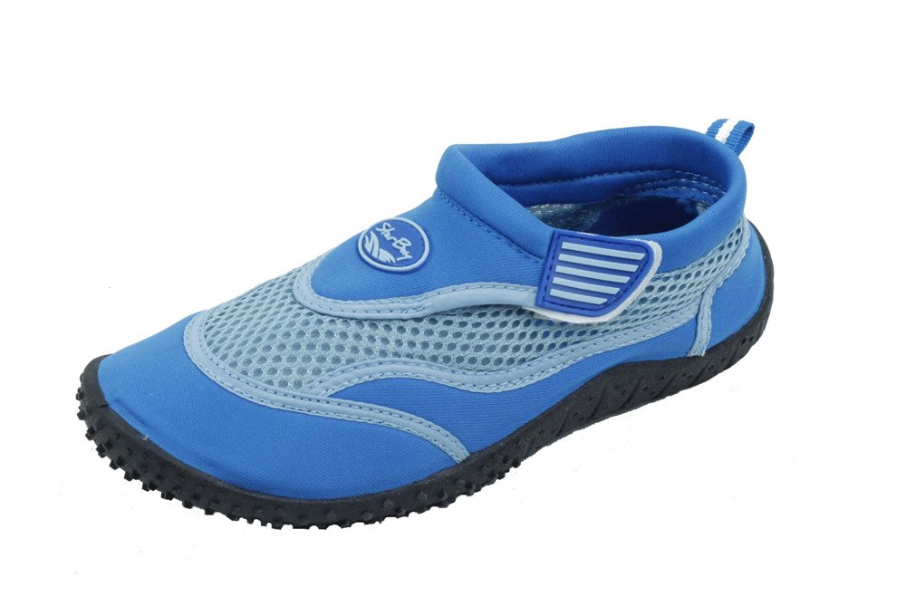Sunville Brand New Kids Slip-On Athletic Blue Water Shoes/Aqua Socks Size 12