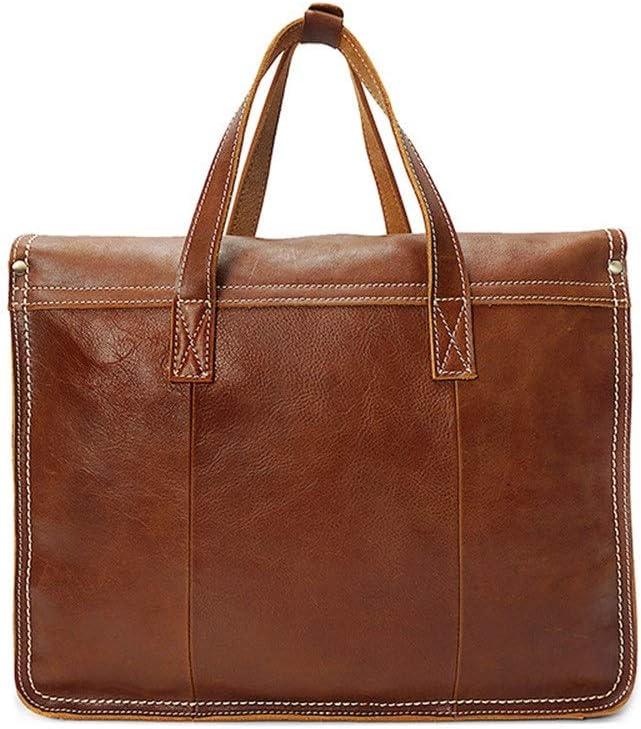 Color : Brown, Size : 411031cm EGQLQ Messenger Bag Satchel Business Briefcase Shoulder Handbags with an Removable Shoulder Strap for Men Lawyers Briefcase
