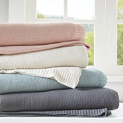 INK+IVY Bree Knit Luxury Knit Blanket Ivory 108x90 King Size Knit Premium Soft Cozy Acrylic For Bed, Couch or Sofa (Knit Blanket King)