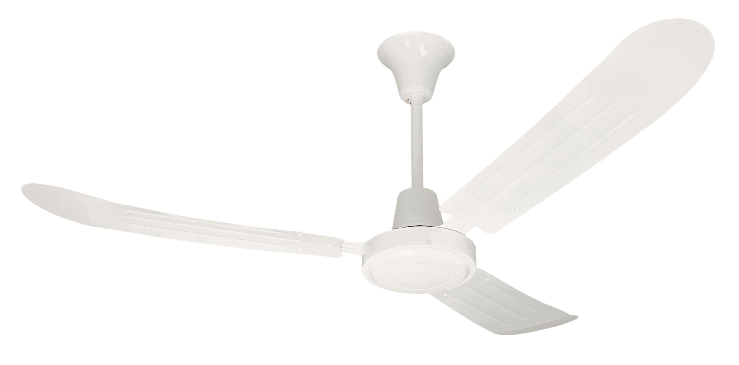Litex UT56WW3M Utility Collection 56-Inch Ceiling Fan with Wall Control, Three White Blades and White Finish
