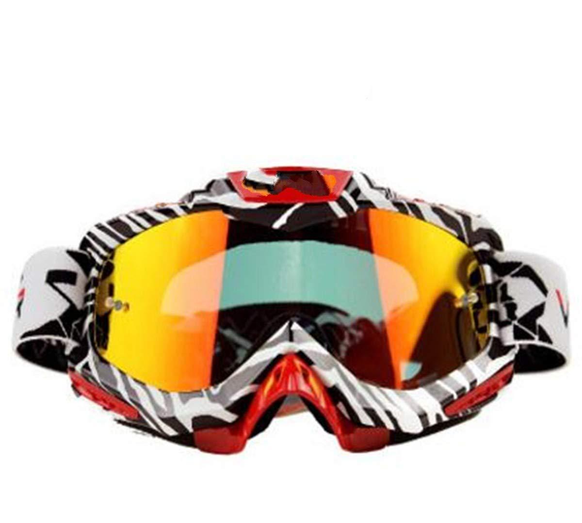 WENDAN EsquiandoGafas de piloto de Motocicleta Retro Scooter de Bicicleta Gafas de Cuero Gafas de Equipo de protección Gafas