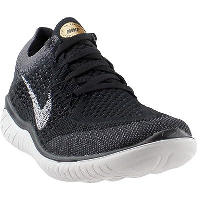 huge discount d8631 af467 Nike Damen WMNS Free Rn Flyknit 2018 Laufschuhe, Mehrfarbig (Black Vast Grey