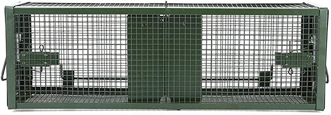 La Captura de la Puerta Doble Ratones Trampas Reutilizable ratón Cebo para roedores Catcher Mouse Trap Caza Jaula de Ratas
