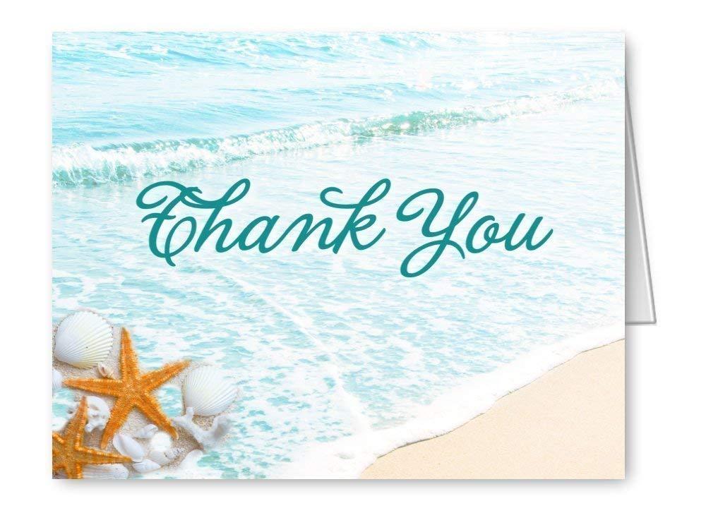 Starfish Note Cards Tropical Vow Renewal Set of Ten Wedding Thank You Beach Wedding Starfish Thank You Sea Star Beach Stationery