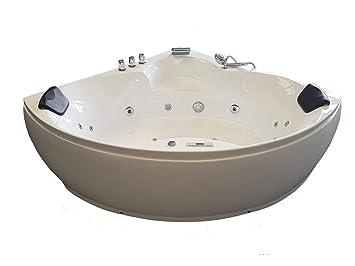 Baignoire balneo Ouest-balnéo baignoire angle 152cm x 152cm x 62cm ...