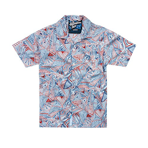 ROWDY GENTLEMAN RED PATRIOTIC HAWAIIAN SHIRT