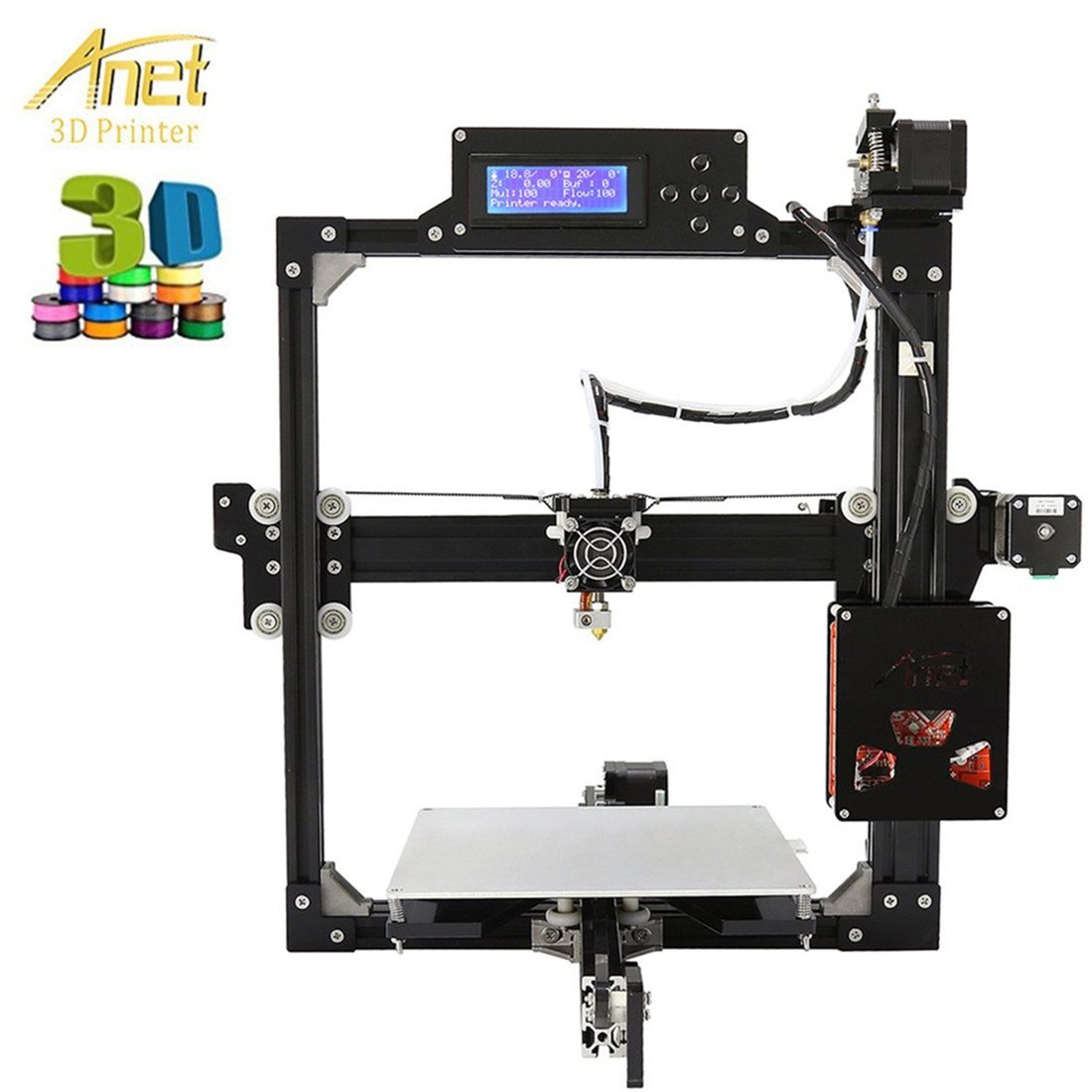 Anet i3 3d impresora Kit Profesional Industrial LCD 100 mm/s Max ...