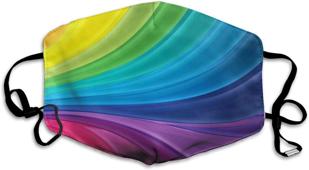Colorido Tie Dye Rainbow Gradient Mascarilla Antipolvo, mascarilla a Prueba de Polvo para Festivales al Aire Libre Polvo Deportivo con Orejeras Ajustables
