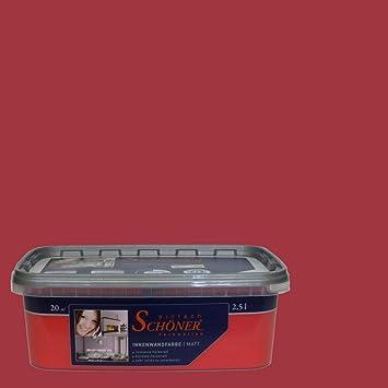 Wilckens Wandfarbe Einfach Schoner Farbwelten 2 5 L Orient Rot