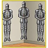 Beistle Medieval Wall of Knights Backdrop Decoration (Each) - Party Supplies