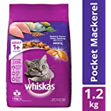Whiskas Adult Dry Cat Food, Mackerel Flavour – 1.2 kg Pack