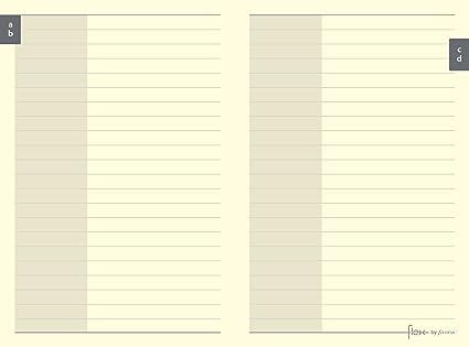 Flex by Filofax Pocket - Recambio para agenda de anillas, hojas para contactos