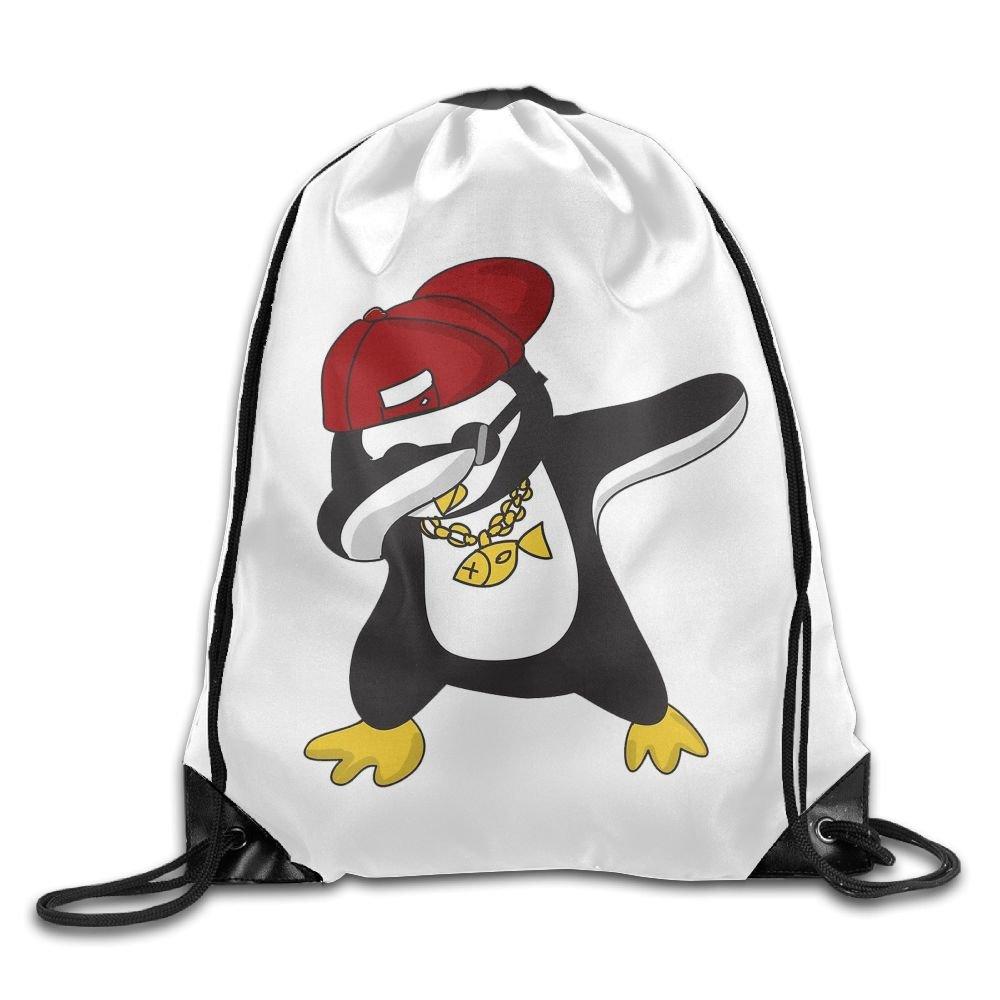 VIMUCIS Dabbing Penguin Drawstring Backpack Rucksack Shoulder Bags Training Gym Sack For Man And Women