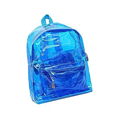 OULII Transparent Backpack Cute School Shoulder Bag Candy Color Satchel for Children (Blue) | Kids' Backpacks