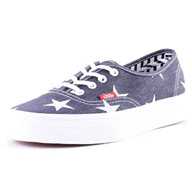 ccb2659f1e Vans Stars and Stripes Authentic Womens Canvas Trainers Blue White - 3 UK