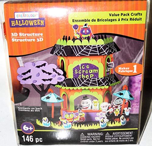 Creatology Halloween Foam Activity Kits (Creatology Halloween Haunted Ice Scream Shop House Foam Activity 3D Craft Structure Kit, Makes 1 Centerpiece or)