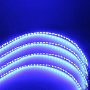 New 15 LED 30cm 1210 Car Motor Vehicle Flexible Waterproof Strip Light Blue 12v