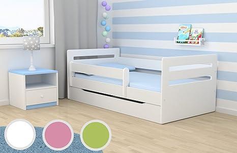 Kocot Kids Kinderbett Jugendbett 80x160 Grün Mit Rausfallschutz Matratze Schubalde Und Lattenrost Kinderbetten Für Mädchen Und Junge Tomi 160 Cm