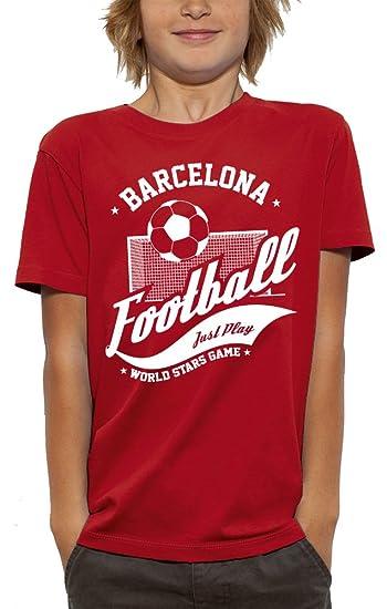 PIXEL EVOLUTION Camiseta 3D Futbol Barcelona de Realidad Aumentada Nino - Talla 3/4 ANS - Rojo: Amazon.es: Ropa y accesorios