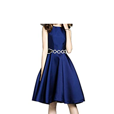 Amazon.com: AIOPPOO Vintage Dresses Stone Blue Dress Sleeveless Tank Sundress Vestidos: Clothing
