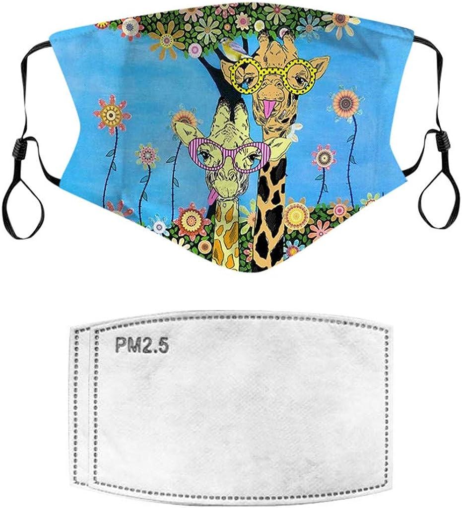 EK105 Avec Filtre Simplicit/é des couleurs unies /élastique Anti-Poussi/ère Visage Bandana 3pc Tissu Lavable en Coton Pour Hommes et Femmes