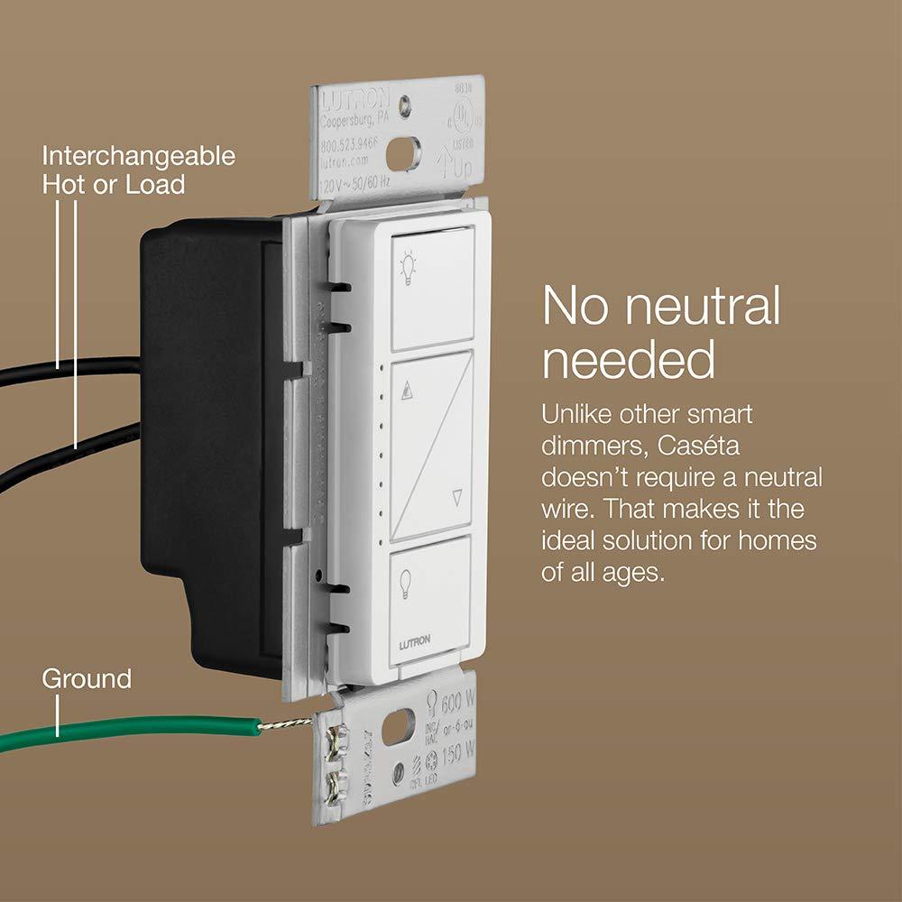 Lutron Caseta - Regulador de intensidad de pared inalámbrico: Amazon.es: Bricolaje y herramientas