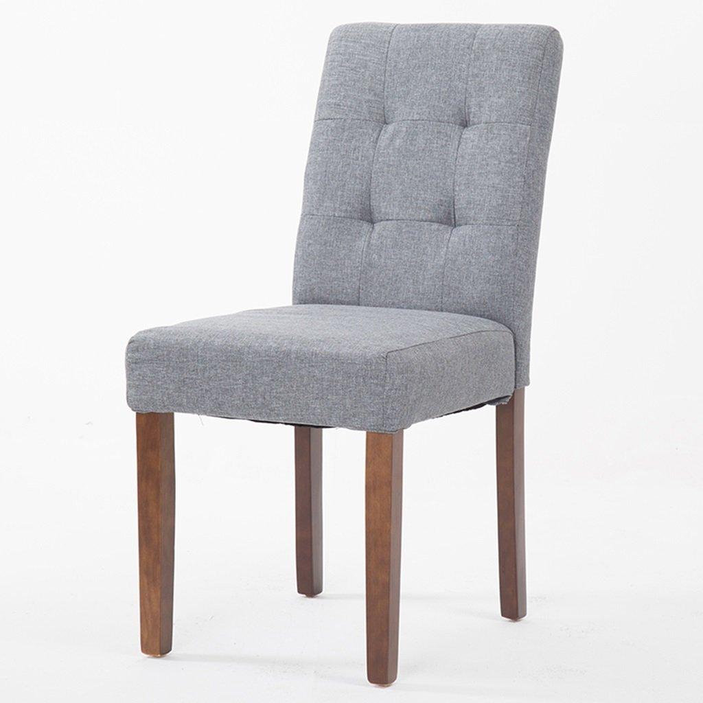 灰色のダイニングチェア、布地のクッションと木製の脚、2つのセット、コーヒールームラウンジ屋内のキッチンレストラン、布張りの椅子 (色 : グレー, サイズ さいず : Set of 1) B07DYLV7RL Set of 1|グレー グレー Set of 1